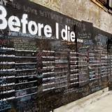 Before I die advertising wall