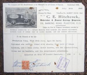 1948 Funeral Bill