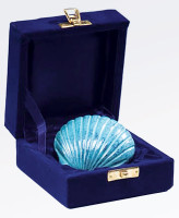 Brass shell keepsake from Scattering Ashes