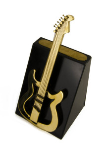 Urn in shape of guitar from Innovative Urns